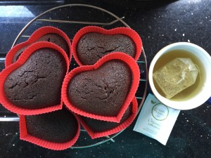 Chocolate muffins and tea